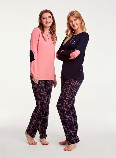 U.S.Polo Assn. Pijama Takım Lacivert